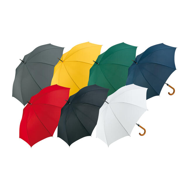 Automatic Umbrella with Wooden Rounded Handle