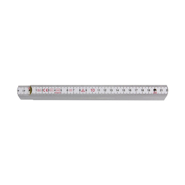 Wooden Ruler in different Colours, 2 meter