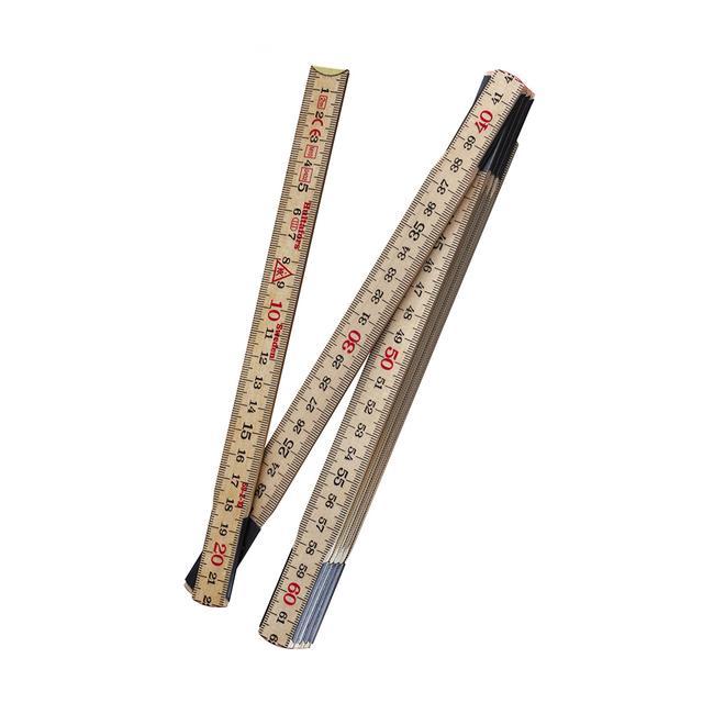 Original Swedish Folding Ruler made by Hultafors, 2.40 meters
