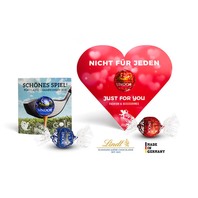 Lindt Lindor Ball in Heart Cardboard Box