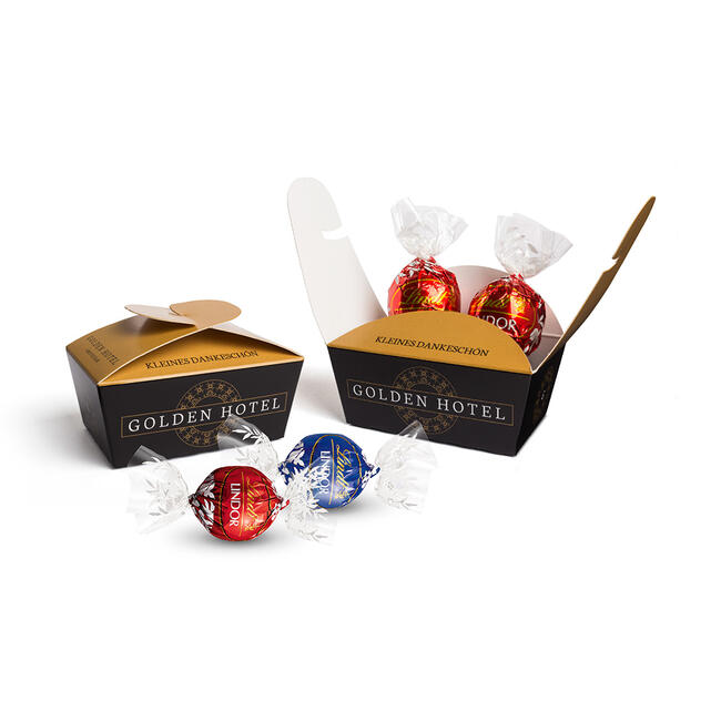 Lindt Lindor Balls in the Advertising Ballotin