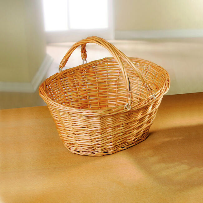"Solid Willow Shopping Basket ""Nature"""