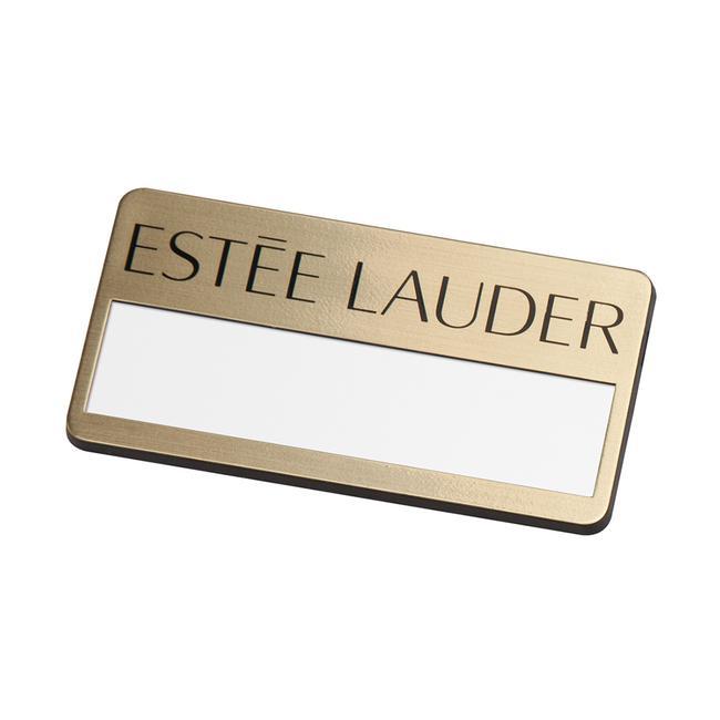 "Name Badge ""Basic Gold 34"""