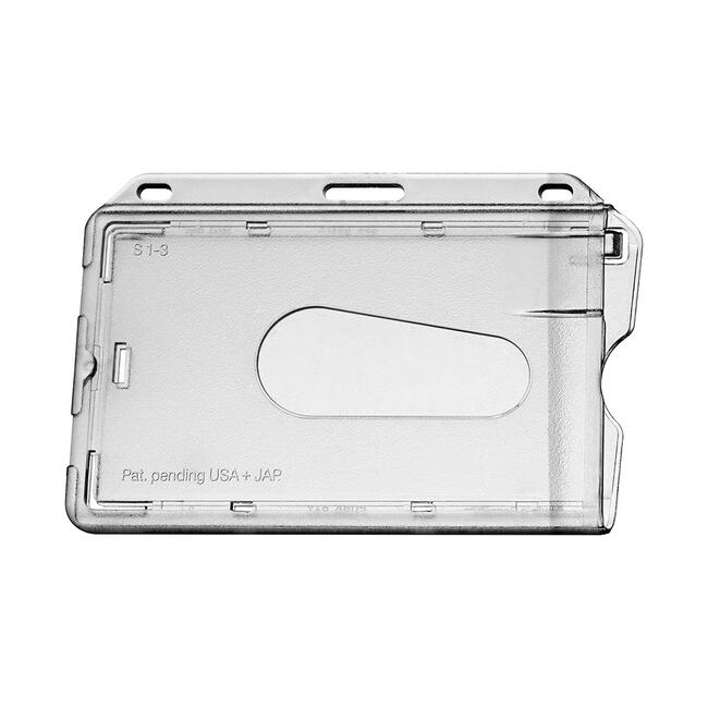 Card Holder with Thumb Indent