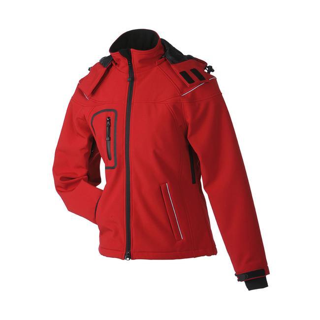 Ladies' Winter Softshell Jacket, waterproof waisted jacket for women