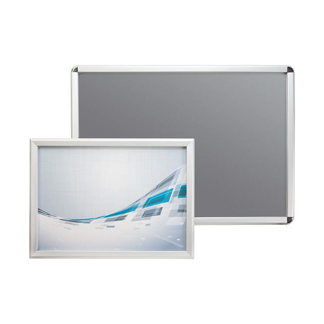Click Frame, 32 mm profile, silver anodised, mitered / round corners
