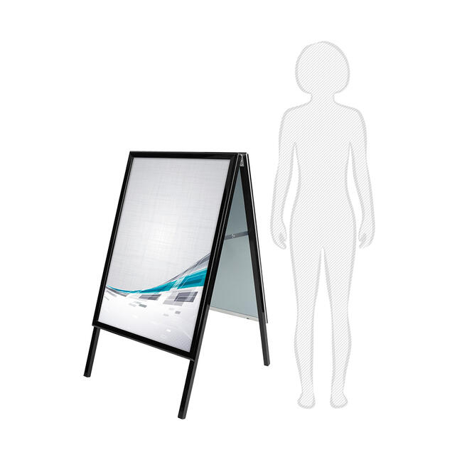 Poster Stand, 32 mm profile, mitred corners, black