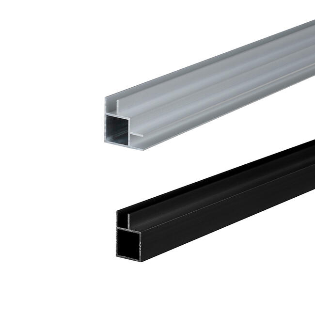 """Square Tubing """"Construct"""" in custom lengths with insert for panel"""