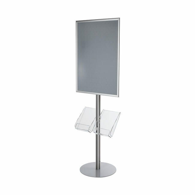 """Poster Stand with A4 Leaflet Holders """"Quattro"""""""