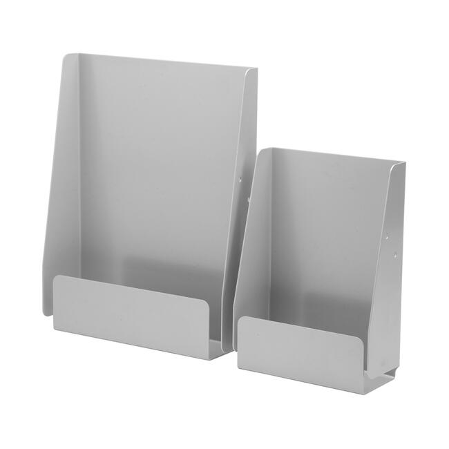 """Steel Leaflet Holder """"Quattro"""", for mounting on the side"""