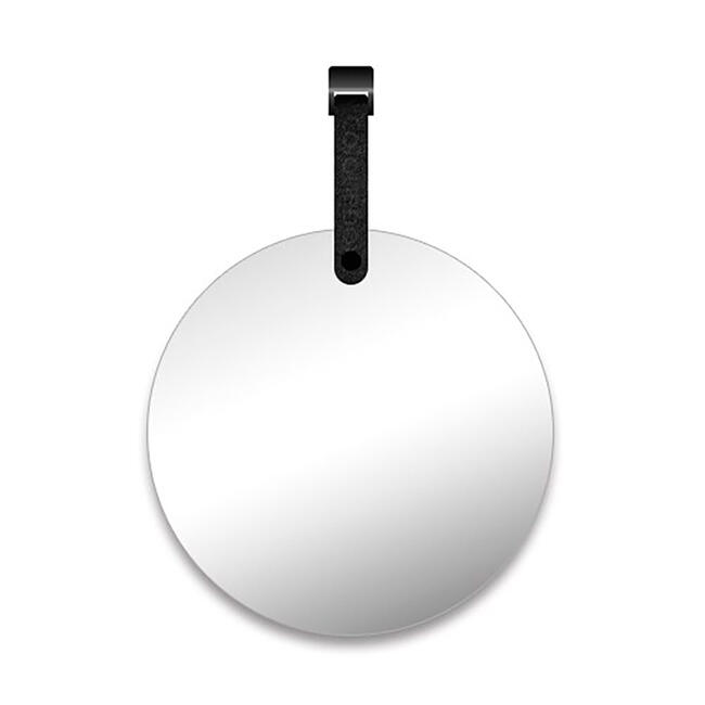 FlexiDeco-Functional / Mirror with black leather strap