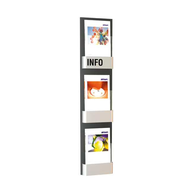 """3 Section Wall Mounted Leaflet Holder """"Edition I"""""""