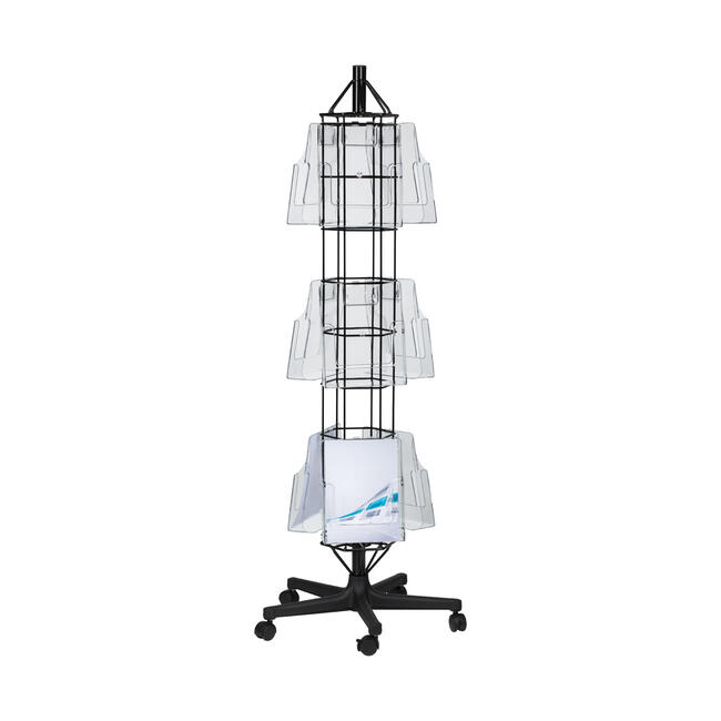 """Leaflet Stand """"M1 - M3"""" with wheels"""