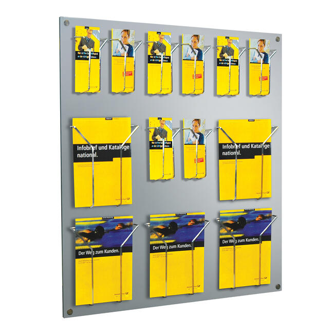 "Multiple Section Hanging Leaflet Holder ""Slab"""