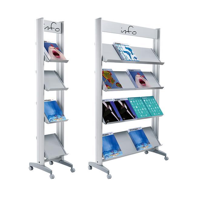 "Leaflet Shelving ""MMP"" with Metal Shelves"