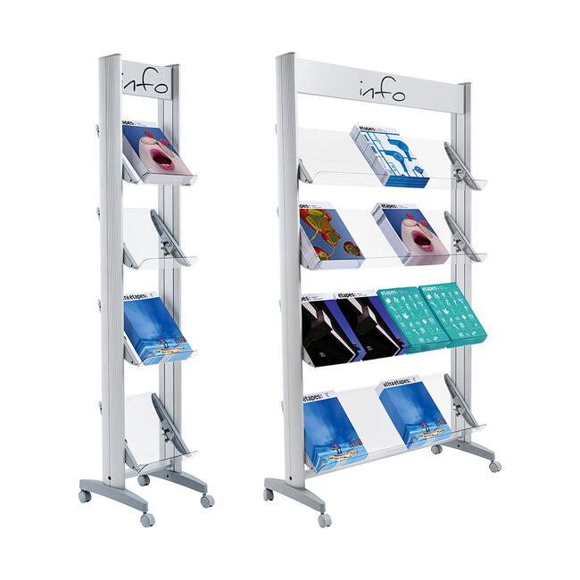 "Leaflet Shelving ""PPS"" with Acrylic Shelves"