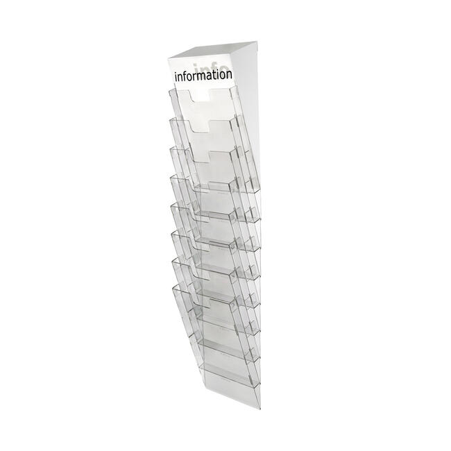 "8 Tier Wall Mounted Leaflet Holder ""Info Module System"""