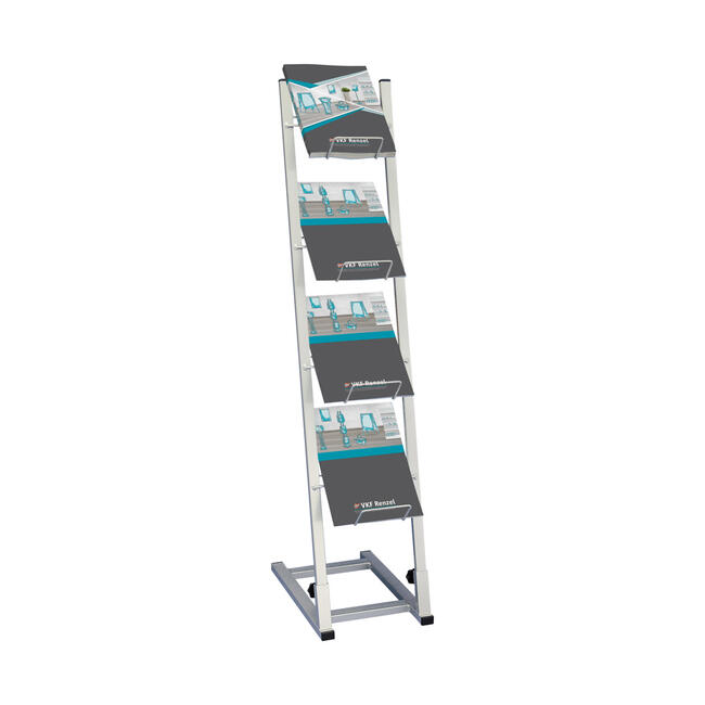 Catalogue Stand with Large Filling Depth
