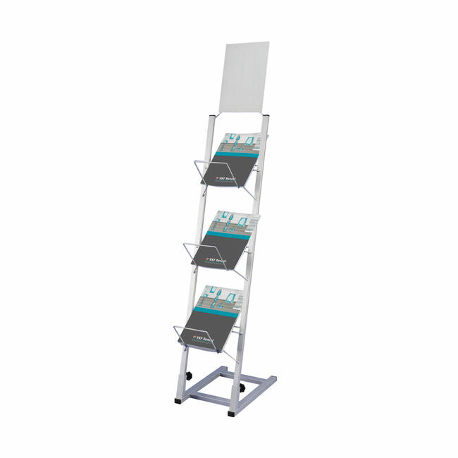 Catalogue Stand with Large Fill Depth and Header Board