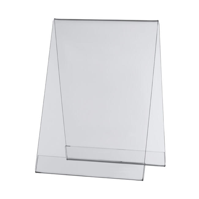 Acrylic Tent Display in Standard Paper Sizes
