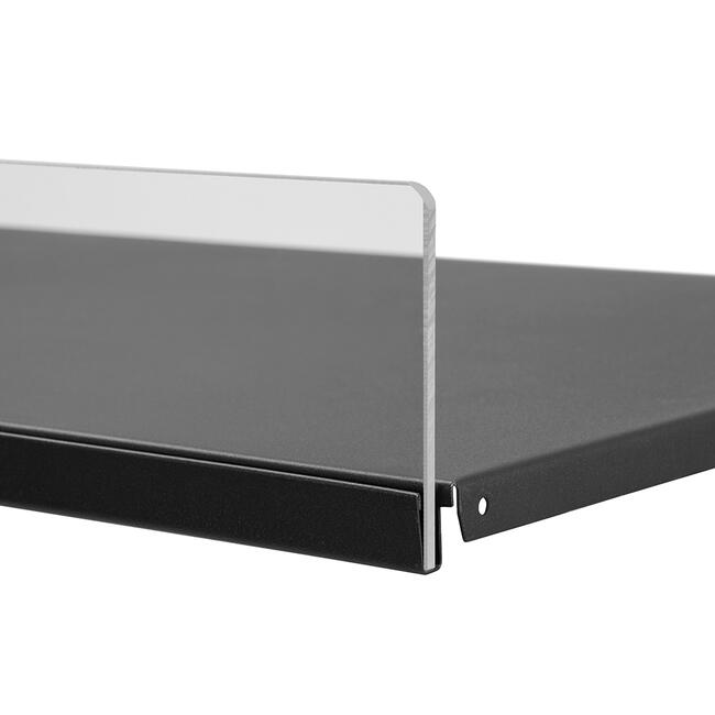 Front Riser 5 mm, insert strip for metal shelves