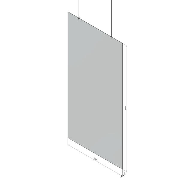 """Acrylic Ceiling Suspension """"Protective Screen"""""""