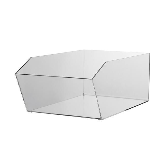 "Acrylic Dump Bin ""Pilea"", square"