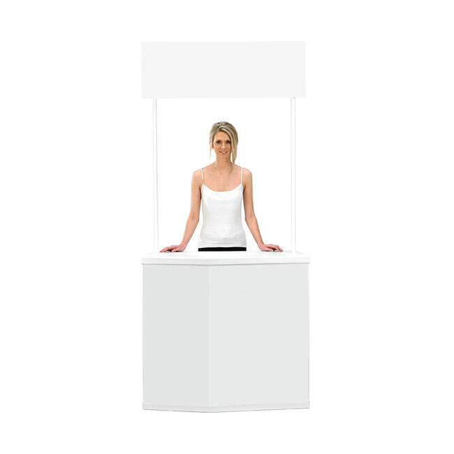 """Exhibition Counter """"Action"""" with Waste Bag Holder"""