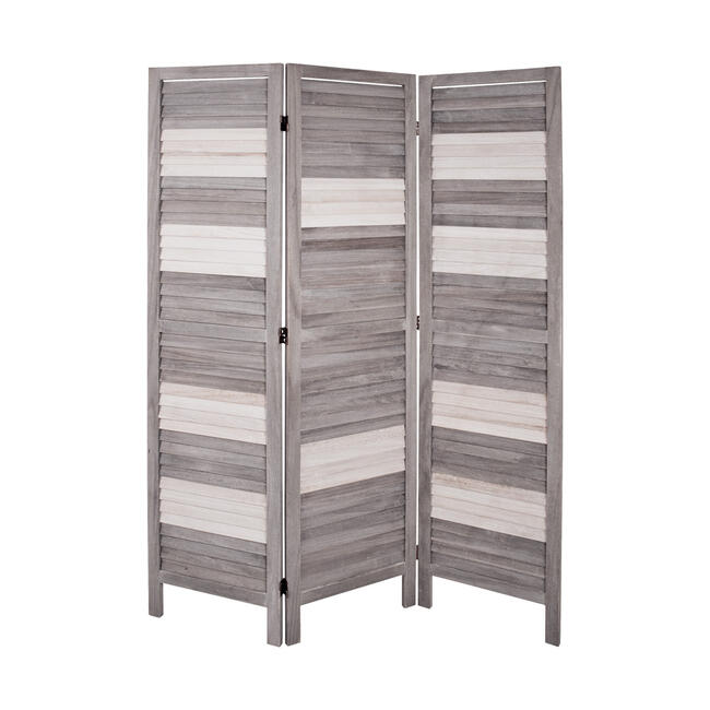 """Room Divider """"Lea"""" with Wooden Slats"""