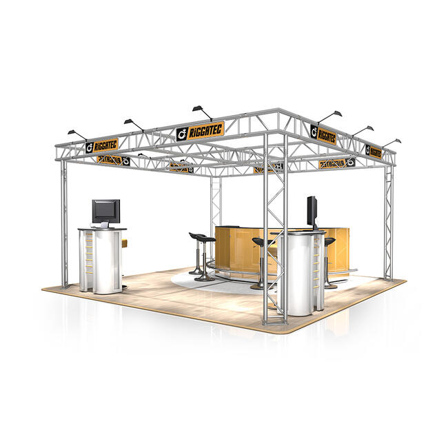Exhibition Stand FD 32, 4000 mm x 2500 mm x 4000 mm (W x H x D)