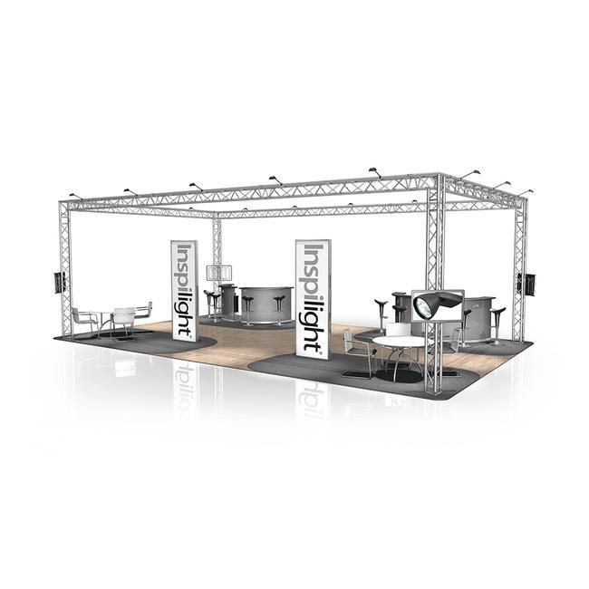 Exhibition Stand FD 33, 10,000 mm x 3500 mm x 6000 mm (W x H x D)