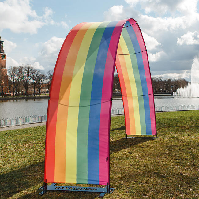 Bannerbow Outdoor - the promotional arch for events