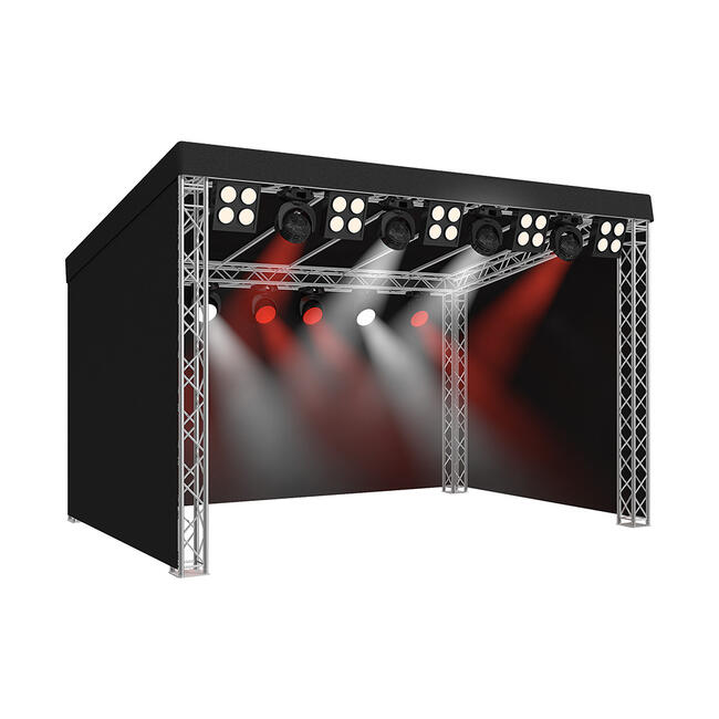 Stage with Flat Roof