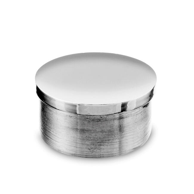 End Cap, V2A, highly polished, flat