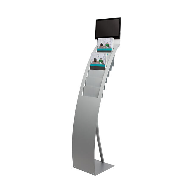 """Leaflet Stand with Digital Picture Frame """"STAND.Flash SIZE Slimline14"""""""