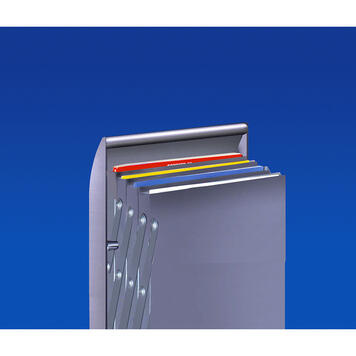 "Folding Leaflet Stand ""Tec-Art"" in Aluminium"