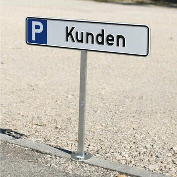 Display Post for Parking Signs