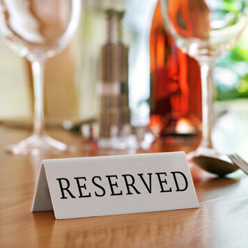 """""""Reserved"""" Table-Top Sign"""