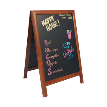 Pavement Display with Chalk Board