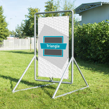 "Banner Frame Slot System Steel ""Triangle"""