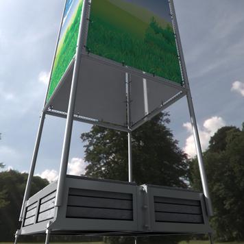 "Banner Frame Slot System Steel ""Quattro"""