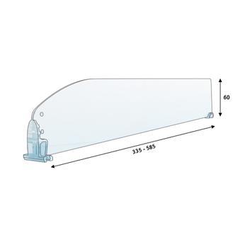 """Shelf Divider """"MP"""" range, slanted without Stopper & Break Off Points"""