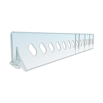 """Shelf Divider """"ROS"""" range, Height 60mm, without stopper"""