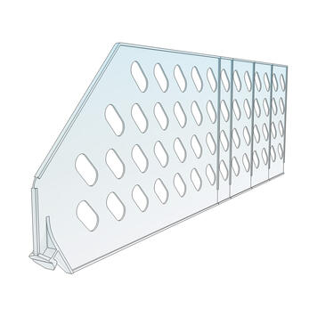 "Shelf Divider ""ROS"" range, Height 140 mm, without stopper"