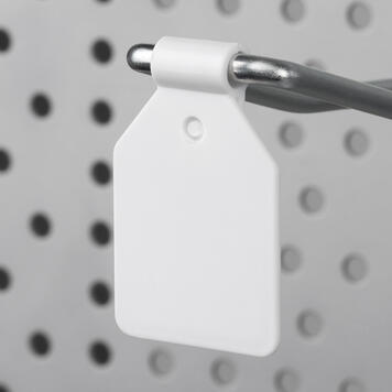 Swinging Price Clip for Pegboard Hooks