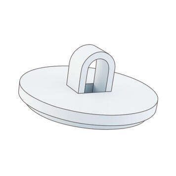 White Adhesive Hook for Fixing Loops