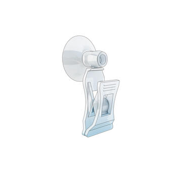 "Small Price Clamp ""Sign Clip"" with Suction Cup"