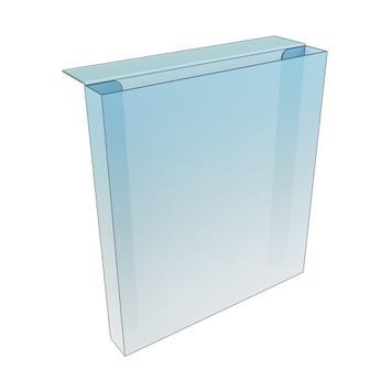 PVC Shelf Edge Leaflet Holder - with adhesive tape