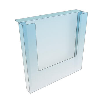 Shelf Edge Leaflet Holder - with adhesive tape 230 x 230 x 30