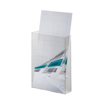 Foldable Leaflet Dispenser with Tape